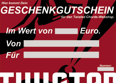 Gutschein Twisted Chords Shop 10 Euro
