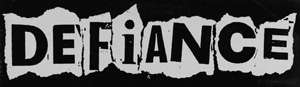 Defiance - Schriftzug Aufnäher