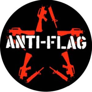 Anti-Flag - Red star Button