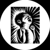 Eric Drooker - Screaming infant Button