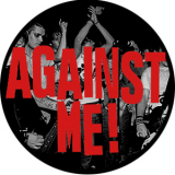 Against Me! - Schrift Button