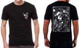 Twisted Chords - Polomski weiß auf schwarz T-Shirt